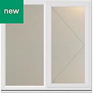 White PVC-U Side hung R/H Casement window (H)1040mm (W)1190mm