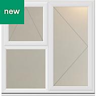 White PVC-U Top opening & side hung R/H Casement window (H)1190mm (W)1190mm
