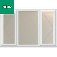 White PVC-U Double side hung Casement window (H)1190mm (W)1770mm