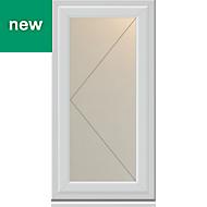 White PVC-U Side hung L/H Casement window (H)1040mm (W)610mm