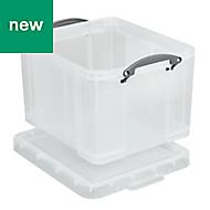 Really Useful Clear 35L Plastic Storage box