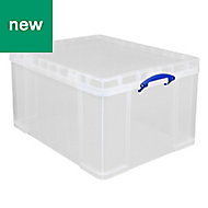 Really Useful Clear 84L Plastic Storage box