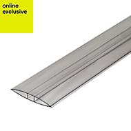 Clear Polycarbonate Axiome sheet glazing bar 3m x 60mm