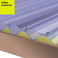 Clear PVC Corrugated Roofing Sheet 2.5m x 950mm