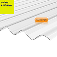 Clear Polycarbonate Corrugated Roofing Sheet 2m x 950mm