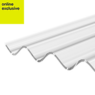 Clear Polycarbonate Corrugated Roofing Sheet 3m x 950mm