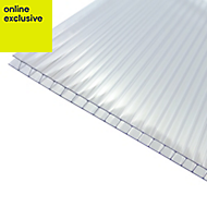 Clear Polycarbonate Twinwall Roofing Sheet 3m x 1000mm