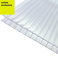 Clear Polycarbonate Twinwall Roofing Sheet 2.5m x 1000mm