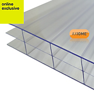 Clear Polycarbonate Multiwall Roofing Sheet 2m x 1000mm