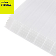 Opal effect Polycarbonate Multiwall Roofing Sheet 4m x 1000mm