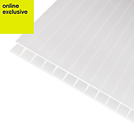 Opal effect Polycarbonate Twinwall Roofing Sheet 2.5m x 690mm