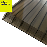 Bronze effect Polycarbonate Multiwall Roofing Sheet 2.5m x 690mm