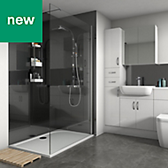 Splashwall Metallic Black Gloss 2 sided shower wall kit