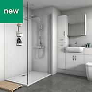 Splashwall White Matt 2 sided shower wall kit