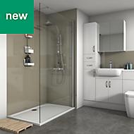 Splashwall Fawn Gloss 2 sided shower wall kit