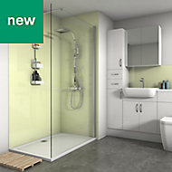Splashwall Pale Lemon Gloss 2 sided shower wall kit