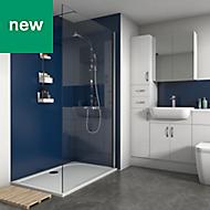 Splashwall Royal Blue Matt 2 sided shower wall kit