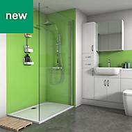 Splashwall Lime Matt 2 sided shower wall kit
