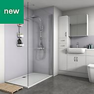 Splashwall Lavender Matt 2 sided shower wall kit