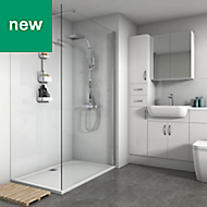 Splashwall White Gloss 3 sided shower wall kit