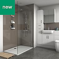 Splashwall Hessian Gloss 3 sided shower wall kit