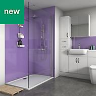 Splashwall Metallic Purple Gloss 3 sided shower wall kit