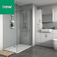 Splashwall Grey Matt 3 sided shower wall kit