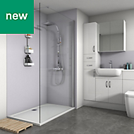 Splashwall Lavender Matt 3 sided shower wall kit