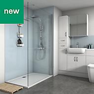Splashwall Pale Blue Gloss 2 sided shower wall kit