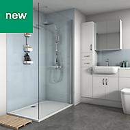 Splashwall Pale Blue Gloss 3 sided shower wall kit