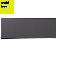 City chic Anthracite Satin Ceramic Wall tile, Pack of 17, (L)400mm (W)150mm