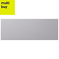 City chic Grey Matt Stone effect Ceramic Wall tile, Pack of 17, (L)400mm (W)150mm