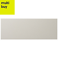 City chic Taupe Matt Ceramic Wall tile, Pack of 17, (L)400mm (W)150mm