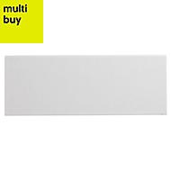 City chic White Matt Ceramic Wall tile, Pack of 17, (L)400mm (W)150mm