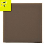 Utopia Taupe Gloss Wood effect Ceramic Wall tile, Pack of 25, (L)100mm (W)100mm