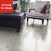 Colours Belcanto White Brushed Californian pine effect Laminate flooring, 2m² Pack