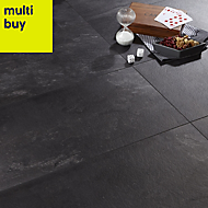 Colours Harmonia Black Slate effect Laminate flooring, 2.05m2 Pack