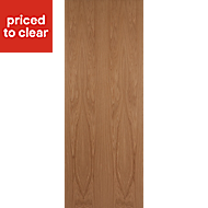 Flush Oak veneer Internal Door, (H)1981mm (W)610mm