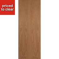 Flush Oak veneer Internal Door, (H)2040mm (W)826mm
