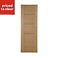 Flush 5 panel Walnut veneer Internal Door, (H)1981mm (W)610mm