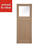Glazed Traditional Oak veneer LH & RH Internal Door, (H)1981mm (W)838mm