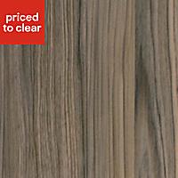 50mm Cypress Cinnamon Wood effect Laminate Square edge Kitchen Breakfast bar Worktop, (L)2000mm