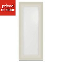 IT Kitchens Santini Gloss Grey Slab Cabinet door (W)300mm