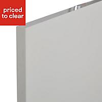 IT Kitchens Santini Gloss Grey Slab Standard Cabinet door (W)400mm