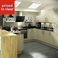 IT Kitchens Santini Gloss Grey Slab Wall end panel (H)720mm (W)290mm