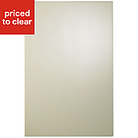 IT Kitchens Santini Gloss Grey Slab Base end panel, (W)570mm