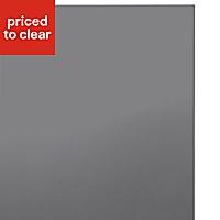 IT Kitchens Santini Gloss Anthracite Slab Larder Cabinet door (W)600mm, Set of 2