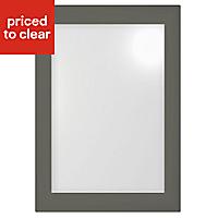 IT Kitchens Santini Gloss Anthracite Slab Glazed Cabinet door (W)500mm