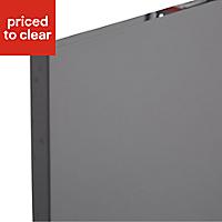 IT Kitchens Santini Gloss Anthracite Slab Belfast sink Cabinet door (W)600mm