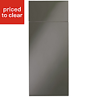 IT Kitchens Santini Gloss Anthracite Slab Drawerline door & drawer front, (W)300mm